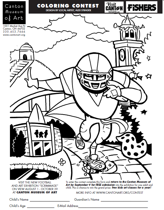 Scrimmage Coloring Contest | Canton Museum of Art